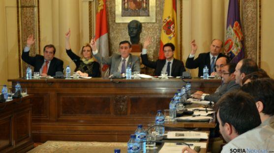 Imagen de la sesión plenaria este martes en la Diputación.
