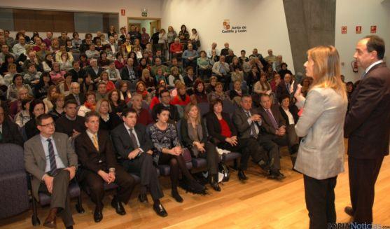 Lucas y López, en el acto de reconocimiento en la Delegación Territorial