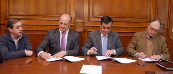 Firma de convenio con Langa y Berlanga