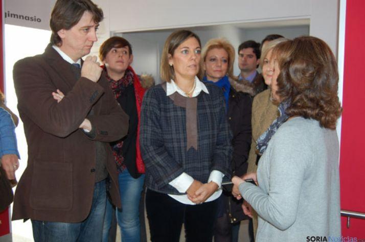 Martínez Mínguez y Milagros Marcos, en el centro