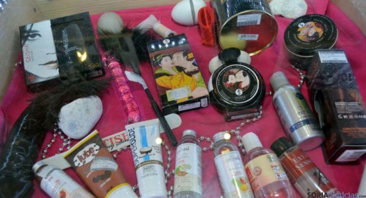Algunos de los productos del sex shop
