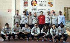 Los atletas del CAEP que tomarán parte en las pruebas.