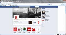 Perfil del Ayuntamiento en Facebook, donde se ven las preferencias hacia webs socialistas.