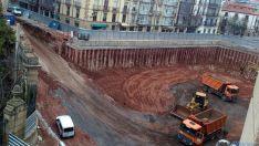 Obras del parking subterráneo en Mariano Granados.