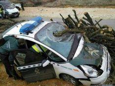 Otra de las imágenes del accidente.