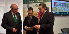 Domingo Barca (izda.), Alberto Pérez y Anselmo García.