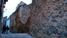 Estado del paño de muralla este viernes.