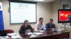 Representantes de AJE Soria en la presentación