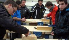 Alumnos del Pico Frentes, en su singular 'Olimpiada'