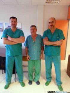 Los doctores Álvaro Gómez, Antonio Soria y Luis García