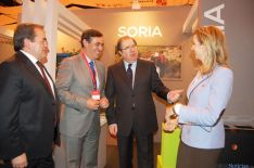 Casado, Pardo y Herrera en el estand de Soria