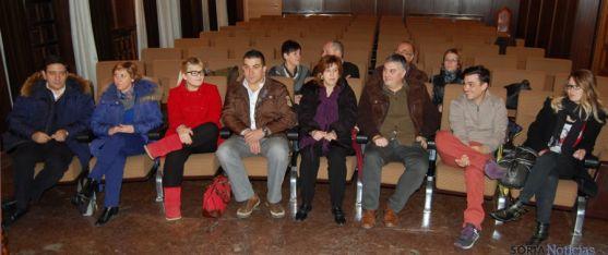 Los futuros jurados en la tarde de este martes en el salón municipal de Plenos.  de