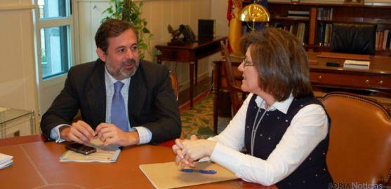 Marimar Angulo y Federico Ramos, en la reunión celebrada en Madrid