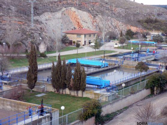 Actual depuradora de Soria ubicada frente a San Saturio