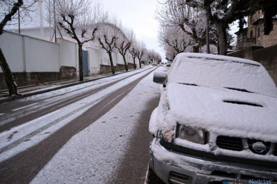 Aspecto de una calle de Soria, a primera hora