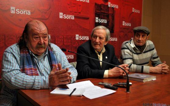 Sebastián Chica (izda.), Jesús Bárez y Javier Cano.