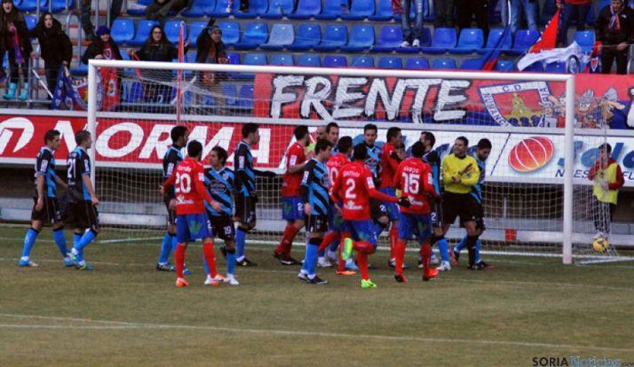 Protestas del Lugo ante la roja mostrada