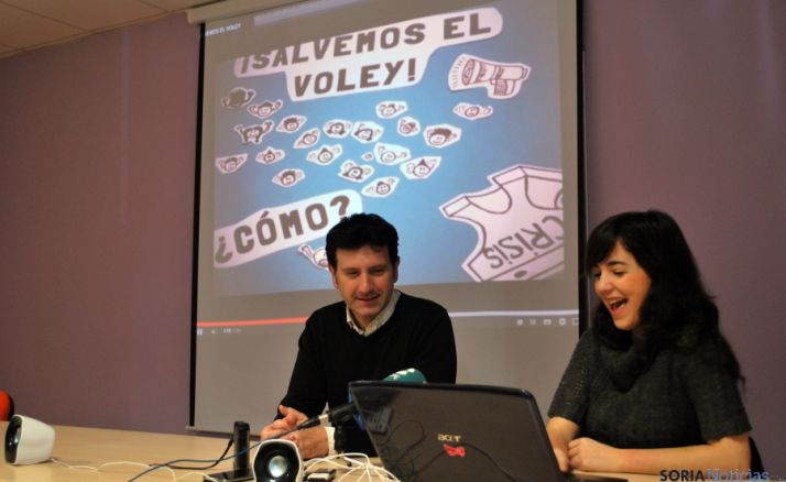 Ángel Romera y Sonia Calvo, en la presentación de la web.