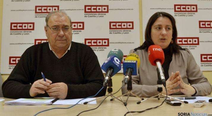 José A. Postigo y Ana Romero, este jueves.