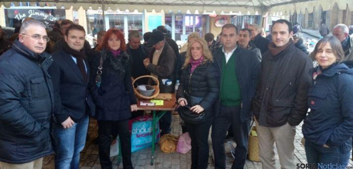 Delegación soriana en la feria de trufa de Sarlat