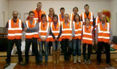 Los voluntarios de Protección Civil de Alconaba. / Jta.