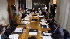 Los delegados territoriales en la reunión de este viernes.