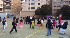 El patio de Escolapias este martes.