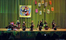 Unos jóvenes rockeros de Escolapias en su actuación del lunes.