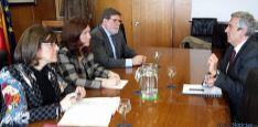 Angulo, Heredia y Aparicio junto al director general de Fondos Europeos, Piñeiro