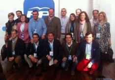 Cargos y afiliados del PP este sábado en Valladolid. / SN