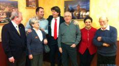 El alcalde en su visita a la Casa de Soria en Zaragoza.