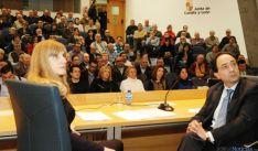 Mar Sancho y Ángel López, en la presentación de ADE Rural ante 130 ayuntamientos