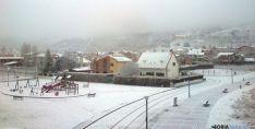 En los alrededores de Soria, la nieve cuajó mas