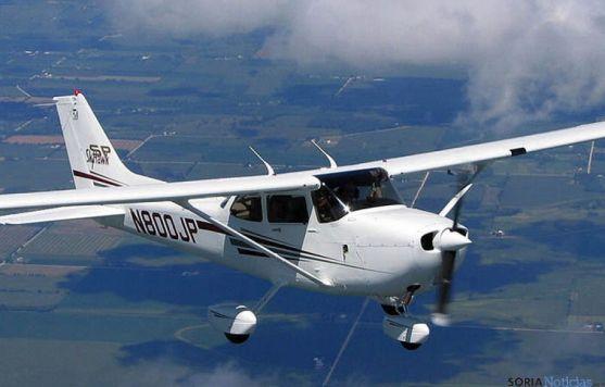 Aviioneta Cessna con la que airpull efectuará vuelos por los cielos sorianos.
