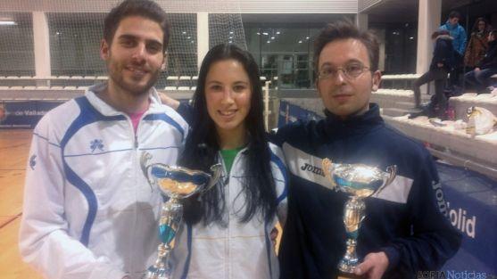 Víctor Ortega, Natalia Sanz y José Romero.