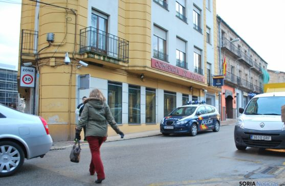 Actual comisaría de la Policía Nacional en Soria.