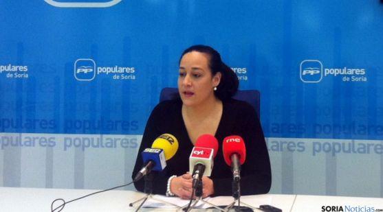 La concejal del PP en Matamala, Miriam Martínez.