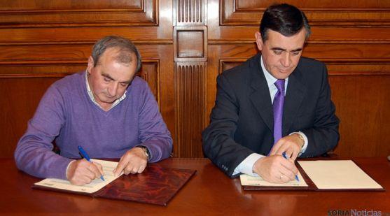 Atanasio Castillo (izda.) de Tierras Altas y Antonio Pardo.