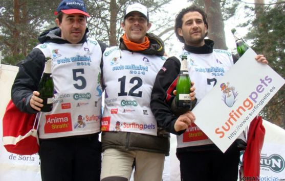 Podio con Torres, Alemanno y Franco, en la cuarta etapa