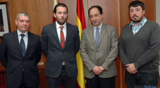 Miguel Ángel Gómez, César Burón, Manuel López y Félix M. Gutiérrez