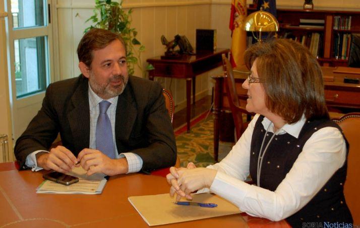 Angulo y el secretario de Estado de Medio Ambiente, Federico Ramos.