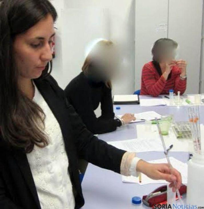 Cristina Sainz, en una de las pruebas.