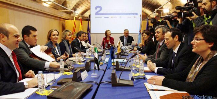 Representantes de las Comunidades en su encuentro en Zaragoza.