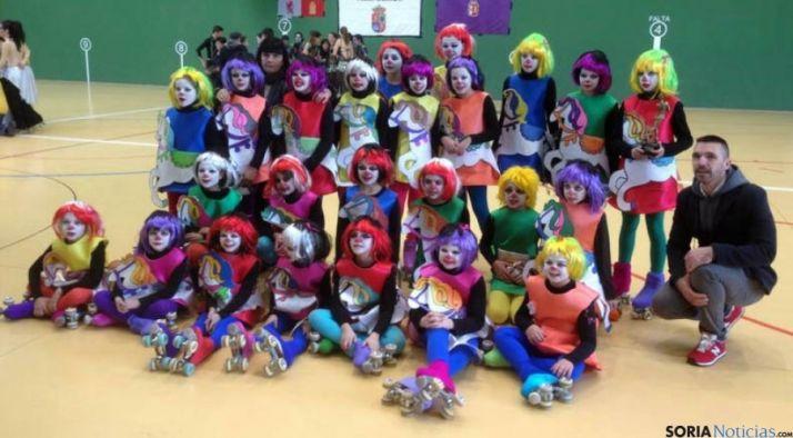 Equipo del Patín Soria, ganador de la plata en los regionales.