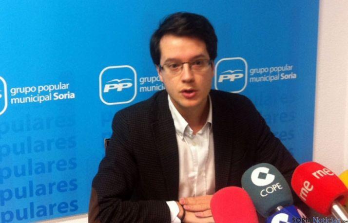 Tomás Cabezón, concejal popular del Ayuntamiento de Soria