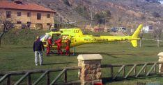 Helicóptero del 112 en unas prácticas en Soria.