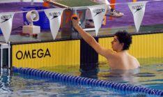 Tierno, firme promesa de la natación soriana.