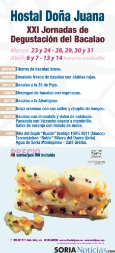 Menú de las Jornadas del Bacalao.