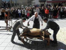 Matanza tradicional del cerdo.