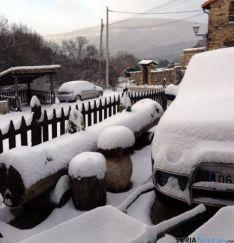 En Pinares, la acumulación de nieve ha sido mayor